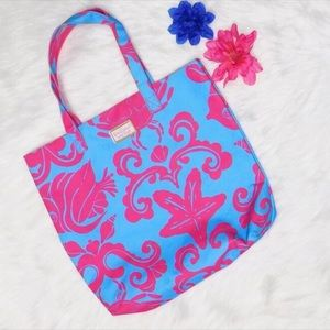 🔥SALE🔥 Lilly Pulitzer Pink and Blue Tote